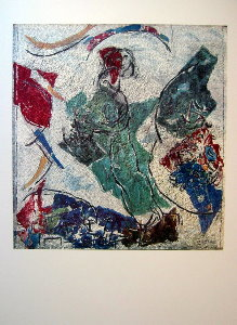 Marc Chagall print, The lovers (Mosaic), 1964-65