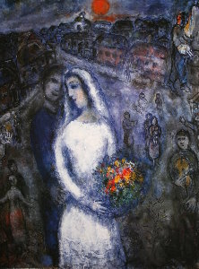Marc Chagall print, Le couple