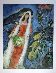 Marc Chagall print, The Bride, 1950