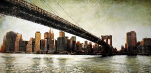 Affiche Matthew Daniels, Brooklyn Bridge View