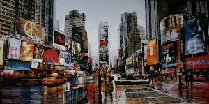 Affiche Matthew Daniels, Evening in Times Square