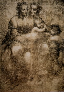 Leonardo Da Vinci poster, The Virgin and Jesus child with Saint Anne