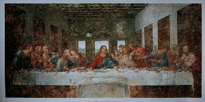 Leonardo Da Vinci poster, The Last Supper, 1494-1497