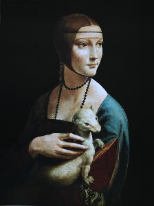 Leonardo Da Vinci poster, Lady with an Ermine, 1488-1490
