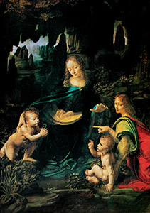 Leonardo Da Vinci poster, The Virgin of the Rocks, 1483