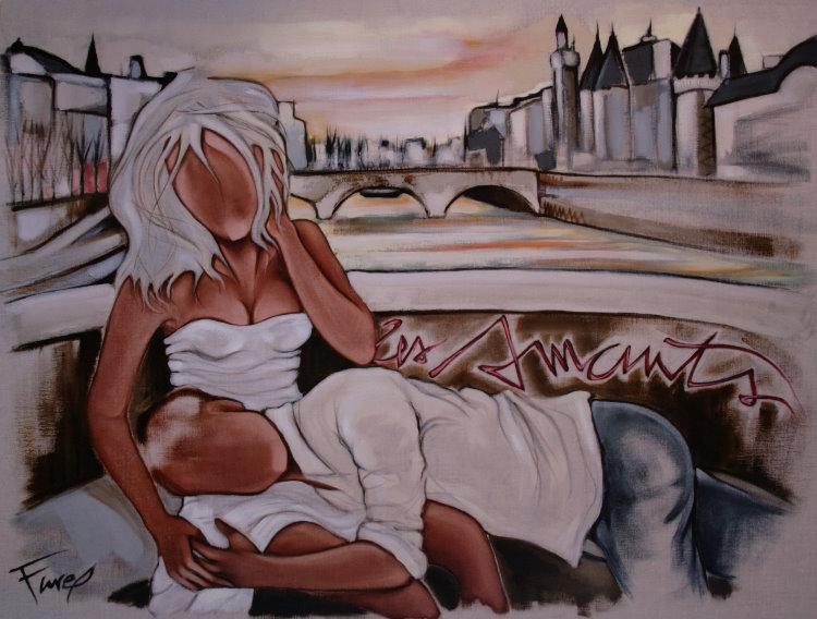 Tableaux de peintres Affiche-farel-les-amants