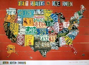 Affiche Aaron Foster, Fifty States, One Nation