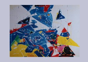 Stampa Sam Francis, Middle Blue, 1957
