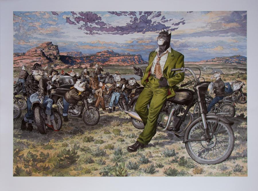Juanjo Guarnido Poster Amarillo S Road Art Print 80 X