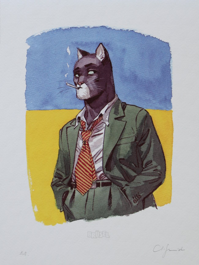 Juanjo Guarnido : Amarillo : Portrait de Blacksad