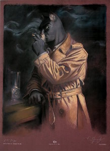 Lámina firmada Guarnido, Blacksad in the dark