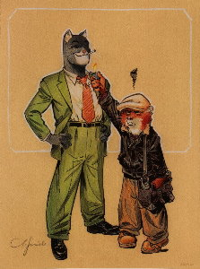Lámina firmada Guarnido, Blacksad, The lighter