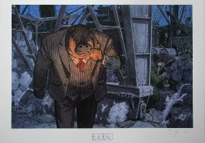 Lámina firmada Guarnido, Blacksad, Dockers