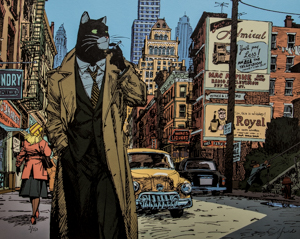 Lámina firmada Guarnido, Blacksad, New York