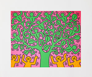 Keith Haring poster, Tree of life