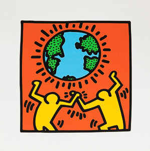 Affiche Haring, Earth, world