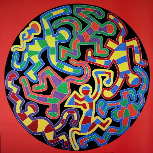 Stampa Haring, Monkey puzzle, 1988