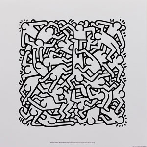 Affiche Haring, Party of Life Invitation, 1986