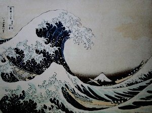 Hokusai print, The Great Wave of Kanagawa, 1834