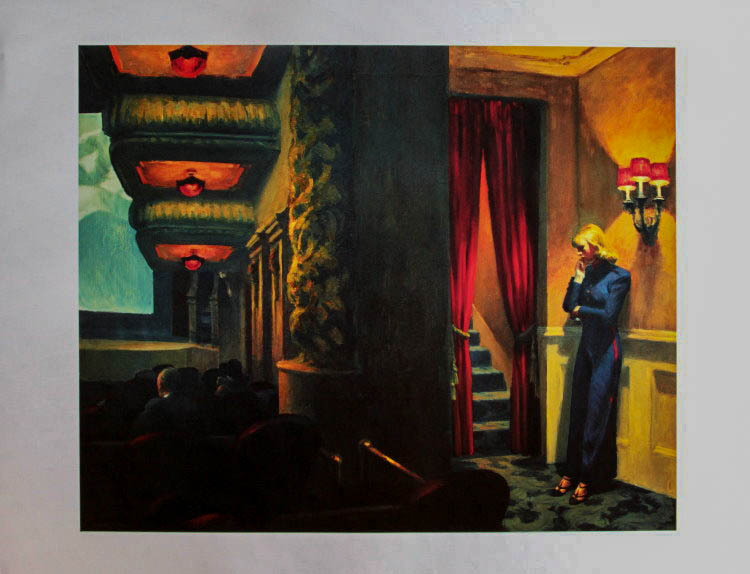 Stampa Edward Hopper, New York Movie - 1939