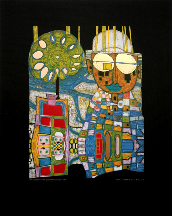 Hundertwasser poster print, Tropical Chinese