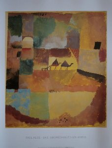 Paul Klee print, Two Dromedaries and a Donkey, 1919