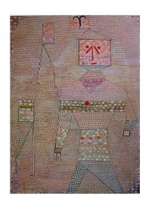 Paul Klee print, Commander in chief of the barbarians, 1977