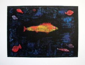 Affiche Paul Klee, Le poisson d'Or (1925)