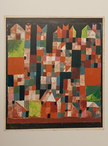 Affiche Paul Klee, Ville aux accents rouges et verts, 1921