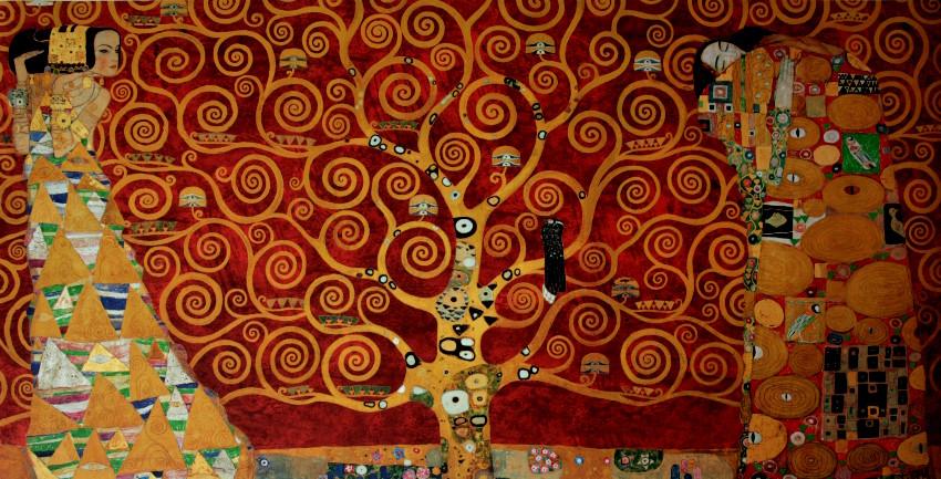 Gustav klimt l 39 arbre de vie 1909 rouge luxueuse for Biographie de klimt