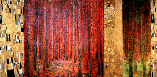 Stampa Gustav Klimt, Forest Patterns II