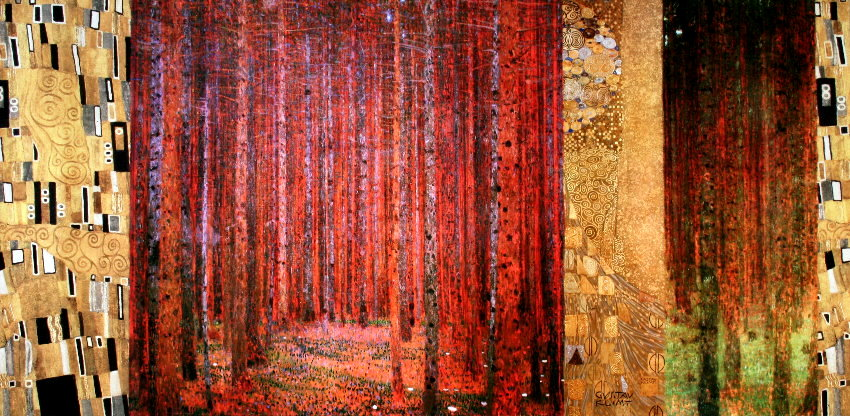 Klimt Foret2 100x50 on art deco patterns