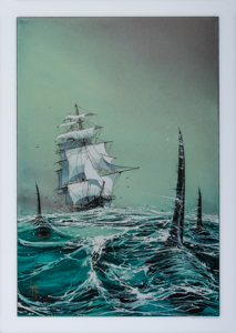 Emmanuel Lepage Art print, Sailboat with the orques