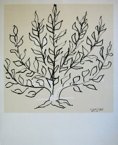 Lithographie Matisse, Le buisson, 1951
