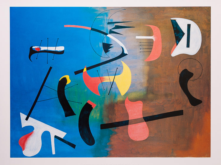 Joan Miro Composition 1933 Reproduction Fine Art Print Poster
