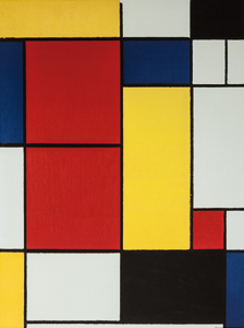 Piet Mondrian Art print, Composition II