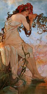 Alfons Mucha print, The summer