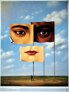 Affiche Rafal Olbinski, Confrontation of Similarities, 1997
