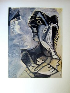 Pablo Picasso Fine Art Print, Seated woman (1971)