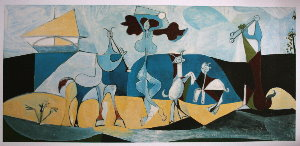 pablo picasso poster joy of life