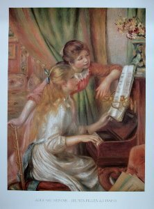 Pierre-Auguste Renoir poster, Young Girls at the Piano, 1892