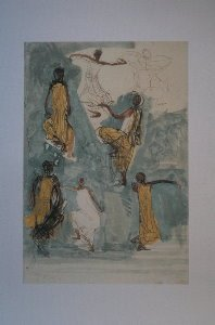 Auguste Rodin poster, Cambodian dancers III, 1906