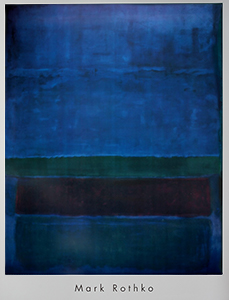 Mark Rothko poster, Blue, Green and brown, 1951