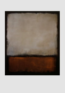 Mark Rothko poster, Brown, Grey and Brown-orange, 1963