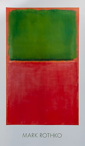 Affiche Mark Rothko, Vert, rouge, sur orange