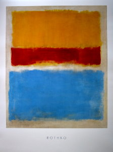 Mark Rothko poster, Untitled, 1953 (Yellow, Red, Blue)