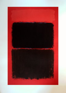 Mark Rothko serigraph, Light red over black
