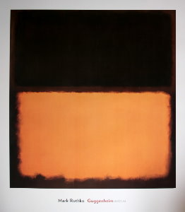 Affiche Mark Rothko, n°18, 1963 : Noir, orange et marron pourpré
