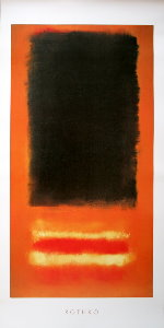 Affiche Mark Rothko, Sans titre, 1950 (Noir sur orange)