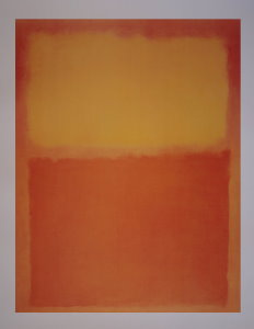 Affiche Mark Rothko, Orange et jaune